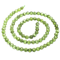 Peridot(Arizona) 4mm Faceted Rounds