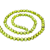 Peridot-5mm Faceted Rounds