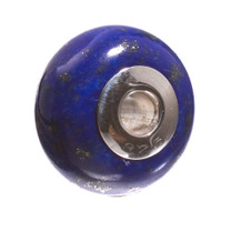Lapis & Sterling Silver Bead