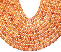 Spiney Oyster 8mm Rondells Orange( Baja Mexico)