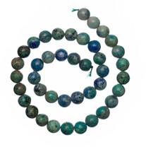 Bluebird Azurite-Malachite-10mm Rounds(Globe,Az)