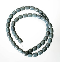 Blue-Green Obsidian(Oregon)6x8mm Barrel