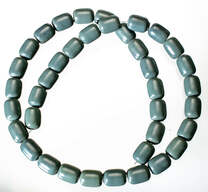 Blue-Green Obsidian(Oregon)8x10mm Barrel
