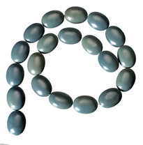 Blue-Green Obsidian(Oregon)25x18x10mm Ovals