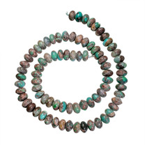 Silicated Chrysocolla - 8mm Rondells