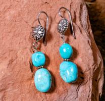Sleeping Beauty Turquoise Earrings