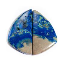 Azurite-Malachite(Jerome,Az) Pair 38x20x5mm AZJ11
