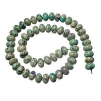 Bluebird Azurite-Malachite- 10mm Rondells(Globe,Az) BAM10d1