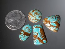 #8 Mine Turquoise Cabochon Set(Stabilized)
