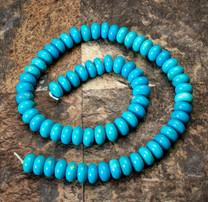 Sleeping Beauty Turquoise - 8mm Rondels SBR8a22