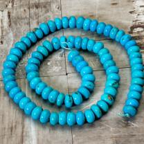 Sleeping Beauty Turquoise -  8mm Rondels SBR8a11