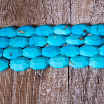 Sleeping Beauty Turquoise Faceted Rectangle SBR1