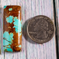 #8 Mine Turquoise Cabochon (Stabilized) 8C1a