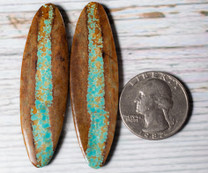 #8 Mine Turquoise Cabochon Pairs(Stabilized) 8P1a