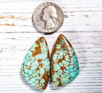 #8 Mine Turquoise Cabochon Pairs(Stabilized) 8P1c