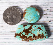 #8 Mine Turquoise Cabochon Set(Stabilized) 8S1b