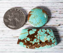 #8 Mine Turquoise Cabochon Set(Stabilized) 8S1b