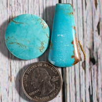 #8 Mine Turquoise Cabochon Set(Stabilized) 8S1c