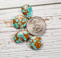 #8 Mine Turquoise Cabochon Set(Stabilized) 8S1h