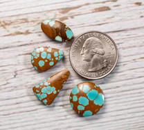 #8 Mine Turquoise Cabochon Set(Stabilized) 8S1j