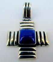 Sterling Silver Lapis Cross SSL1