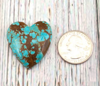 Number Eight Turquoise Heart - 34x32x7mm N8H5M