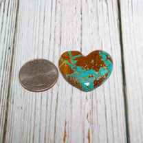 Number Eight Turquoise Heart - 34x34x6mm N8H6M