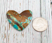 Number Eight Turquoise Heart -42x38x8mm N8H1L