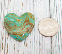 Number Eight Turquoise Heart -37x37x6mm N8H2L
