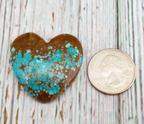 Number Eight Turquoise Heart -36x37x8mm N8H3L