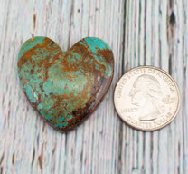 Number Eight Turquoise Heart - 37x35x7mm N8H4L