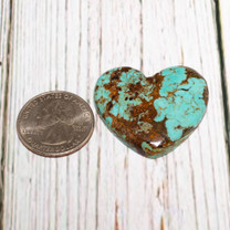 Number Eight Turquoise Heart - 36x34x6mm N8H5L