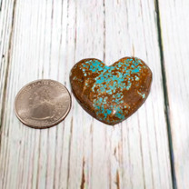 Number Eight Turquoise Heart - 36x35x8mm N8H6L