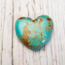 Number Eight Turquoise Heart - 25x27x7mm N8H1S