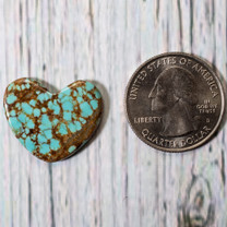 Number Eight Turquoise Heart - 24x20x7mm N8H4S