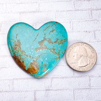 Number Eight Turquoise Heart - 47x42x6mm N8H2EL