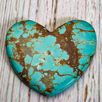 Number Eight Turquoise Heart -37x43x4mm N8H4EL