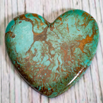 Number Eight Turquoise Heart -52x48x5mm N8H5EL