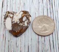 Wild Horse Magnesite Heart(Arizona) 30x30x6mm WHH2M