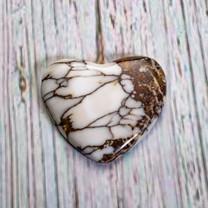 Wild Horse Magnesite Heart(Arizona) 26x27x4mm WHH5M