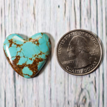 Number Eight Turquoise Heart - 23x20x6mm  N8H3S2