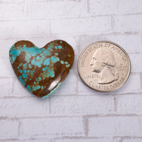 Number Eight Turquoise Heart - 30x27x7mm N8H3S4