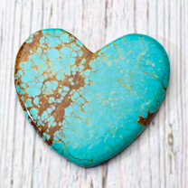 Number Eight Turquoise Heart - 50x46x5mm N8H5EL1