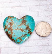 Number Eight Turquoise Heart - 48x45x7mm N8H5EL4