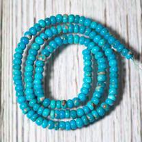 Sleeping Beauty Turquoise 4mm Rondels SBTRL04