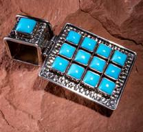 Sleeping Beauty Turquoise & SS Pendant