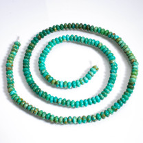 Sonoran Blue Turquoise(Mexico)3mm Rondels SBR3f