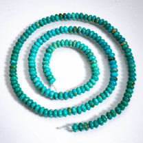 Sonoran Blue Turquoise(Mexico)3mm Rondels