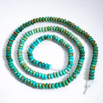 Sonoran Blue Turquoise(Mexico)3mm Rondels SBR3d