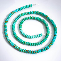 Sonoran Blue Turquoise(Mexico)3mm Rondels SBR3b